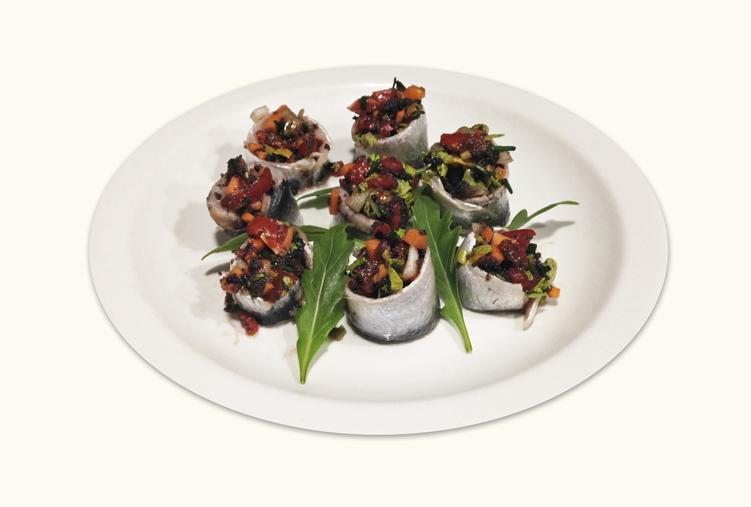 imagen de Sardinas marinadas con verduras