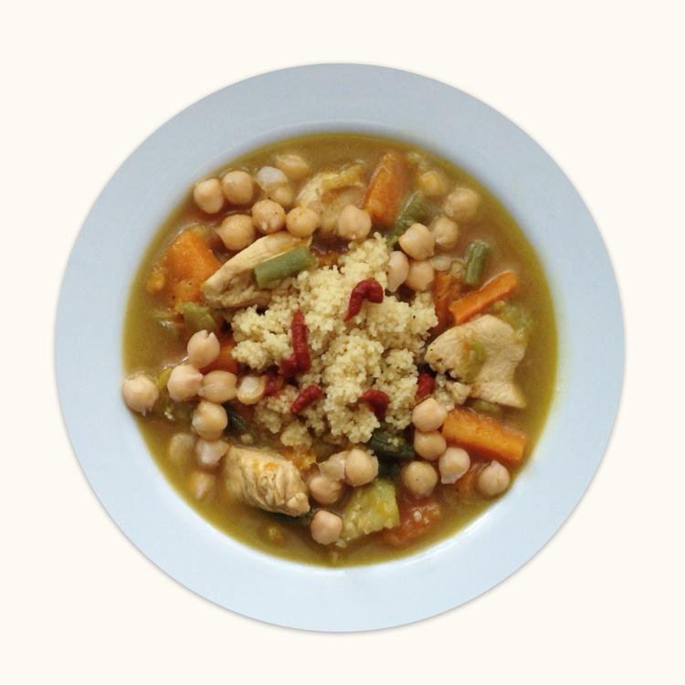 imagen de Cuscús de carne y verduras