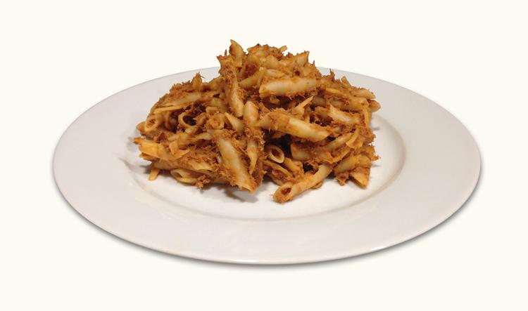 imagen de Macarrones con carne rustida
